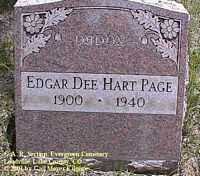 PAGE, EDGAR DEE HART - Lake County, Colorado | EDGAR DEE HART PAGE - Colorado Gravestone Photos