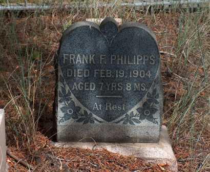 PHILLIPS, FRANK F. - Lake County, Colorado | FRANK F. PHILLIPS - Colorado Gravestone Photos