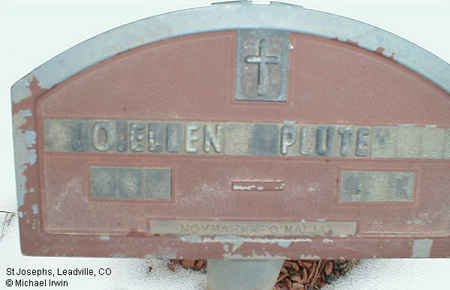 PLUTE, JO ELLEN - Lake County, Colorado | JO ELLEN PLUTE - Colorado Gravestone Photos