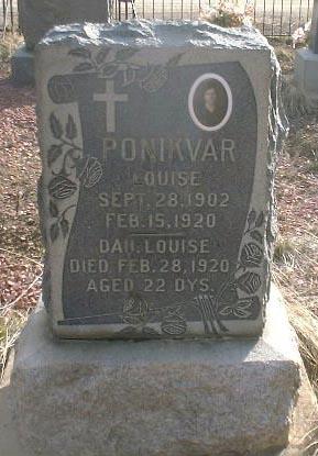 PONIKVAR, LOUISE - Lake County, Colorado   LOUISE PONIKVAR - Colorado Gravestone Photos