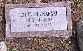 POZNANSKI, LOUIS - Lake County, Colorado | LOUIS POZNANSKI - Colorado Gravestone Photos