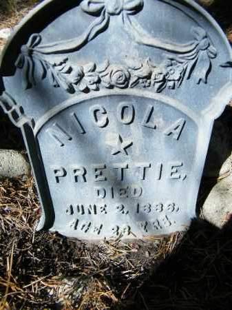 PRETTIE, NICOLA - Lake County, Colorado | NICOLA PRETTIE - Colorado Gravestone Photos
