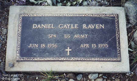 RAVEN, DANIEL GAYLE - Lake County, Colorado | DANIEL GAYLE RAVEN - Colorado Gravestone Photos
