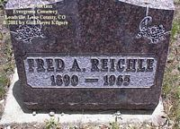 REICHLE, FRED A. - Lake County, Colorado | FRED A. REICHLE - Colorado Gravestone Photos
