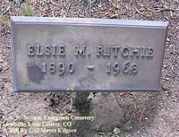 RITCHIE, ELSIE M. - Lake County, Colorado   ELSIE M. RITCHIE - Colorado Gravestone Photos