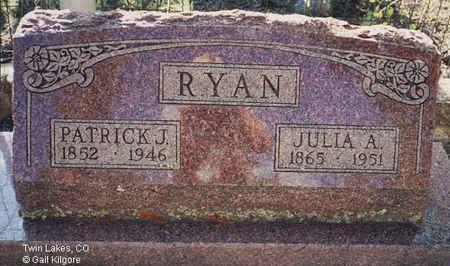 RYAN, PATRICK J. - Lake County, Colorado | PATRICK J. RYAN - Colorado Gravestone Photos