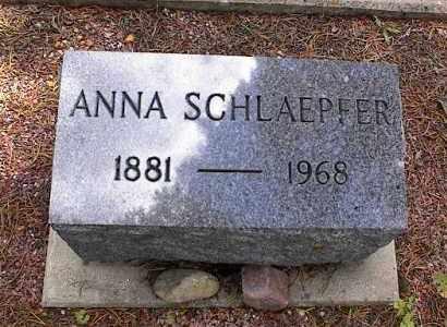 SCHLAEPFER, ANNA - Lake County, Colorado | ANNA SCHLAEPFER - Colorado Gravestone Photos