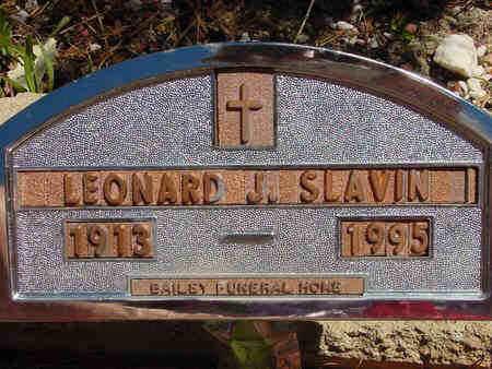 SLAVIN, LEONARD JOHN - Lake County, Colorado   LEONARD JOHN SLAVIN - Colorado Gravestone Photos