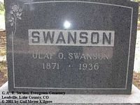 SWANSON, OLAF O. - Lake County, Colorado | OLAF O. SWANSON - Colorado Gravestone Photos