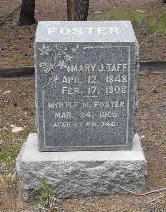 TAFF, MARY J. - Lake County, Colorado | MARY J. TAFF - Colorado Gravestone Photos