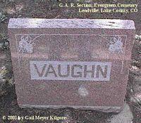 VAUGHN, MONUMENT - Lake County, Colorado | MONUMENT VAUGHN - Colorado Gravestone Photos