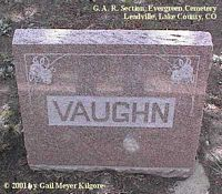 VAUGHN, MONUMENT - Lake County, Colorado | MONUMENT VAUGHN - Colorado Gravestone Photos