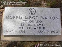 WALTON, MORRIS LEROY - Lake County, Colorado   MORRIS LEROY WALTON - Colorado Gravestone Photos