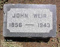 WEIR, JOHN - Lake County, Colorado   JOHN WEIR - Colorado Gravestone Photos
