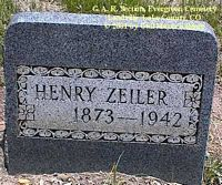 ZEILER, HENRY - Lake County, Colorado | HENRY ZEILER - Colorado Gravestone Photos