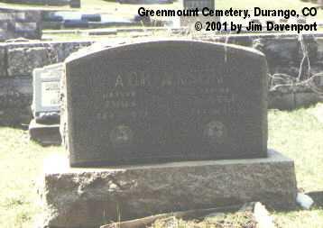 ADRIANSON, GUSTAF - La Plata County, Colorado | GUSTAF ADRIANSON - Colorado Gravestone Photos