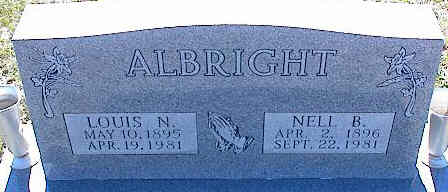 ALBRIGHT, NELL B. - La Plata County, Colorado | NELL B. ALBRIGHT - Colorado Gravestone Photos