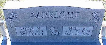 ALBRIGHT, LOUIS N. - La Plata County, Colorado | LOUIS N. ALBRIGHT - Colorado Gravestone Photos
