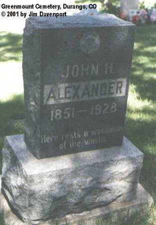 ALEXANDER, JOHN H. - La Plata County, Colorado | JOHN H. ALEXANDER - Colorado Gravestone Photos