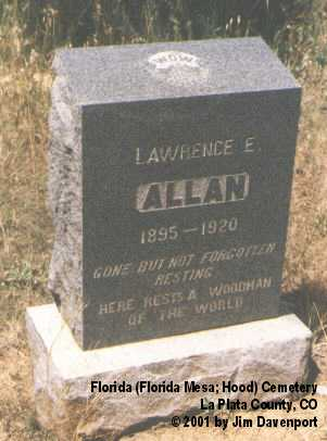 ALLAN, LAWRENCE E. - La Plata County, Colorado   LAWRENCE E. ALLAN - Colorado Gravestone Photos