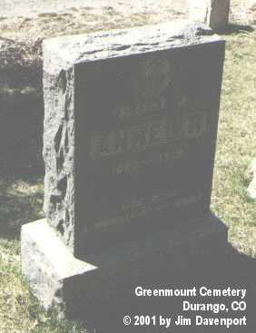 ANHEIER, ALBERT M. - La Plata County, Colorado | ALBERT M. ANHEIER - Colorado Gravestone Photos