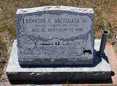 ARCHULETA, KENNETH C. SR. - La Plata County, Colorado | KENNETH C. SR. ARCHULETA - Colorado Gravestone Photos