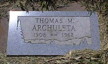 ARCHULETA, THOMAS M. - La Plata County, Colorado | THOMAS M. ARCHULETA - Colorado Gravestone Photos