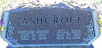 ASHCROFT, GORDON BIGGS - La Plata County, Colorado | GORDON BIGGS ASHCROFT - Colorado Gravestone Photos