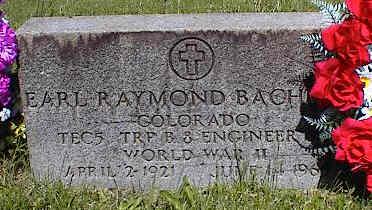 BACHMAN, EARL RAYMOND - La Plata County, Colorado | EARL RAYMOND BACHMAN - Colorado Gravestone Photos