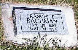 BACHMAN, FRANCES E. - La Plata County, Colorado   FRANCES E. BACHMAN - Colorado Gravestone Photos