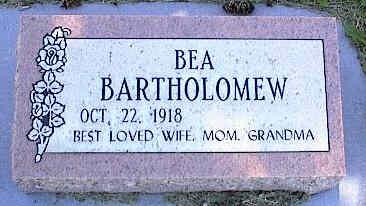 BARTHOLOMEW, BEA - La Plata County, Colorado | BEA BARTHOLOMEW - Colorado Gravestone Photos