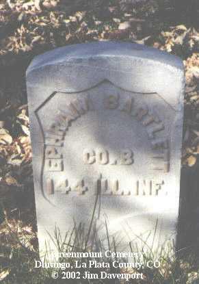 BARTLETT, EPHRAIM - La Plata County, Colorado | EPHRAIM BARTLETT - Colorado Gravestone Photos