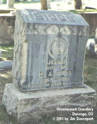 BIGGS, JENNIE - La Plata County, Colorado   JENNIE BIGGS - Colorado Gravestone Photos