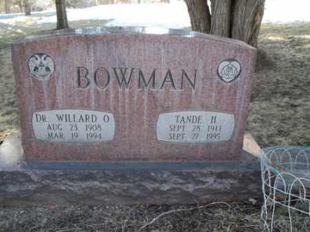 BOWMAN, TANDE H. - La Plata County, Colorado | TANDE H. BOWMAN - Colorado Gravestone Photos