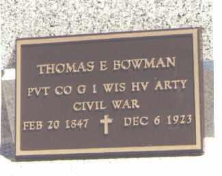 BOWMAN, THOMAS E. - La Plata County, Colorado | THOMAS E. BOWMAN - Colorado Gravestone Photos