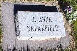 BREAKFIELD, J. ANNA - La Plata County, Colorado | J. ANNA BREAKFIELD - Colorado Gravestone Photos