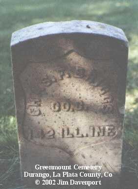 BRIGGS, CHAS F. - La Plata County, Colorado | CHAS F. BRIGGS - Colorado Gravestone Photos