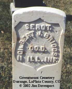 BRIGGS, GILBERT J. - La Plata County, Colorado | GILBERT J. BRIGGS - Colorado Gravestone Photos