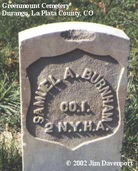 BURNHAM, SAMUEL A. - La Plata County, Colorado   SAMUEL A. BURNHAM - Colorado Gravestone Photos