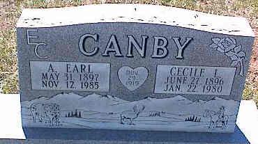 CANBY, A. EARL - La Plata County, Colorado | A. EARL CANBY - Colorado Gravestone Photos