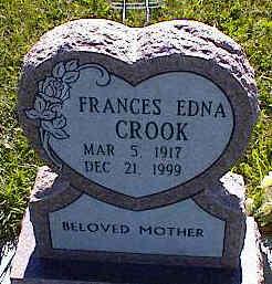 CROOK, FRANCES EDNA - La Plata County, Colorado   FRANCES EDNA CROOK - Colorado Gravestone Photos