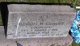CUNDIFF, BUNION W. - La Plata County, Colorado | BUNION W. CUNDIFF - Colorado Gravestone Photos