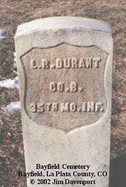 DURANT, L. R. - La Plata County, Colorado | L. R. DURANT - Colorado Gravestone Photos