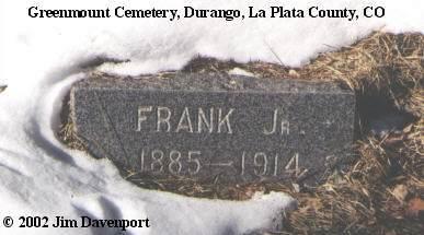 CUNHA, FRANK, JR. - La Plata County, Colorado | FRANK, JR. CUNHA - Colorado Gravestone Photos