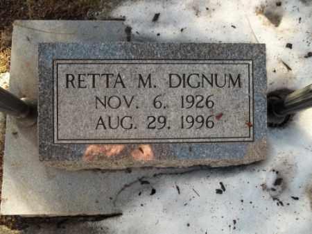 DIGNUM, RETTA M. - La Plata County, Colorado | RETTA M. DIGNUM - Colorado Gravestone Photos