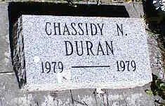 DURAN, CHASSIDY N. - La Plata County, Colorado   CHASSIDY N. DURAN - Colorado Gravestone Photos
