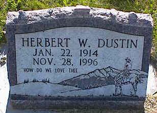 DUSTIN, HERBERT W. - La Plata County, Colorado | HERBERT W. DUSTIN - Colorado Gravestone Photos