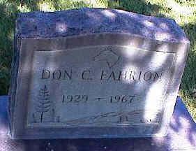 FAHRION, DON C. - La Plata County, Colorado | DON C. FAHRION - Colorado Gravestone Photos