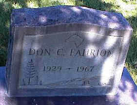 FAHRION, DON C. - La Plata County, Colorado | DON C. FAHRION - Colorado Gravestone Photos