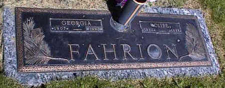 FAHRION, GEORGIA - La Plata County, Colorado   GEORGIA FAHRION - Colorado Gravestone Photos